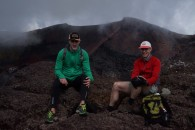 Bruce and Kristian at the summit of Mt Fuji