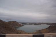 Large Reservoir supplying Almaty