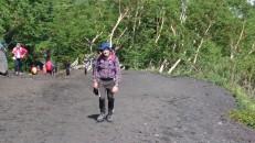 Jack starting the Mt Fuji climb
