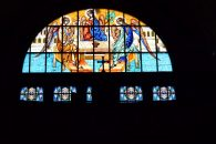 Stained glass window Orthodox church Sibiu