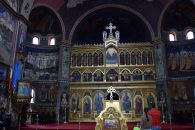 Inside Orthodox church Sibiu