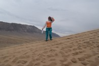 Wind blown at the top of Singing Dunes