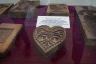 Shortbread moulds in museum