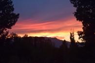 Sunset at Altyn Emel village