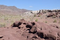 Volcanic extrusions Taigak gorge