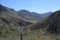 View from 33 Parrots Pass leaving Song Kul