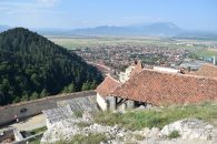 Spectacular view from fortification on the hill outside Brasov