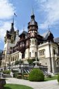 Peles castle at Sinaia with extensive gardens