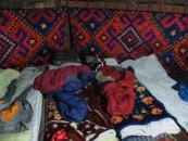 Sleeping quarters in the yurt
