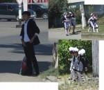 Beautifully dressed school children
