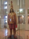 Replica of the Golden man found in a burial mound near Almaty. His 'tomb' was preserved intact from prehistoric grave robbers, as he was a young royal prince (about 17) placed in a different spot away from the central King's tomb (which was empty and destroyed)