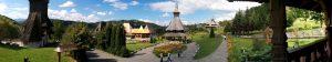 Panorama Barsana wooden monastery
