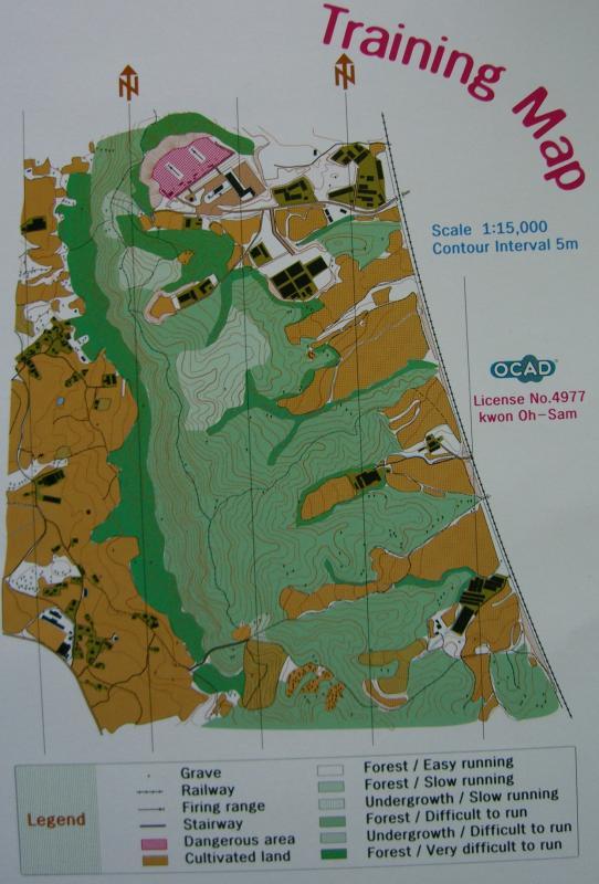 Training map